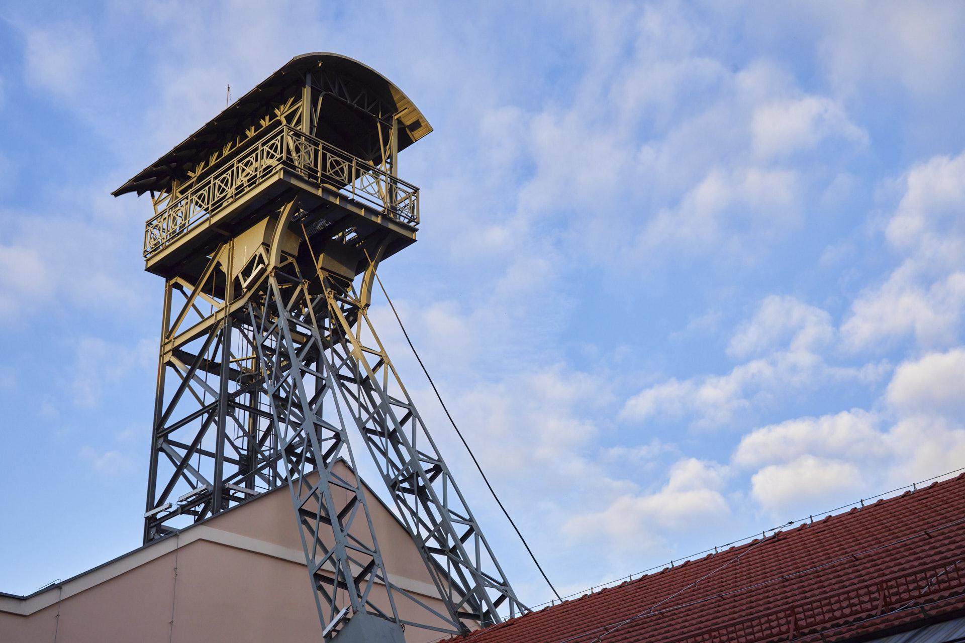 Fotografia szybu kopalni Wieliczka