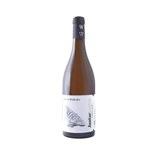 Fotografia produktowa wina Jantar z Winnicy Wieliczka