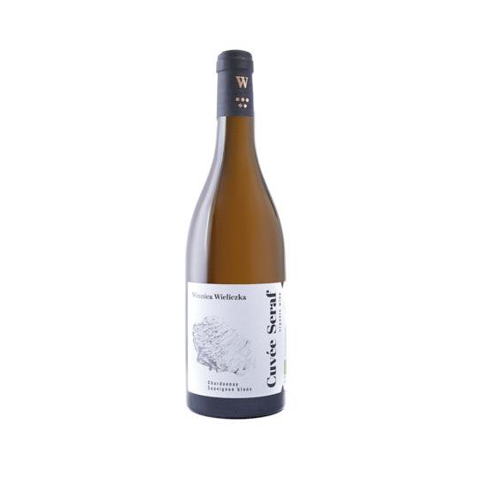 Fotografia produktowa wina Cuvee Seraf z Winnicy Wieliczka